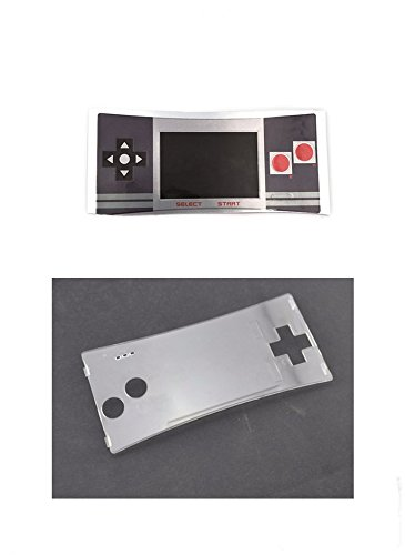 Faceplate Label Sticker + Plastic Clear Panel for Gameboy Micro GBM Faceplate Front Cover # Color 1 (Gameboy Color Faceplates)