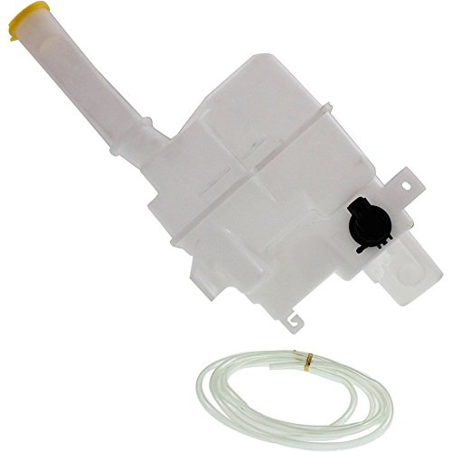 Washer Reservoir Windshield Expansion Tank w/Washer Pump, Cap, and Fluid Level Sensor Port Turbo compatible with Vehicles
