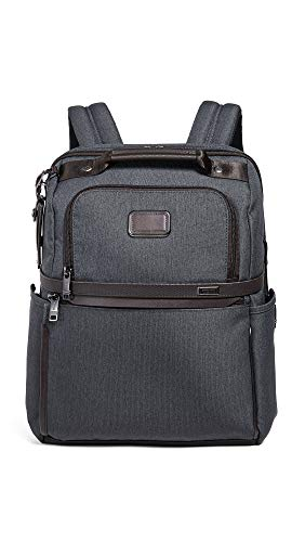 (Tumi Men's Alpha Slim Solutions Brief Backpack, Anthracite, Grey, One Size)