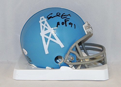 Earl Campbell Autographed Black Houston Oilers TB Mini Helmet W/ HOF- JSA W Auth (Authentic Tb Mini Helmet)
