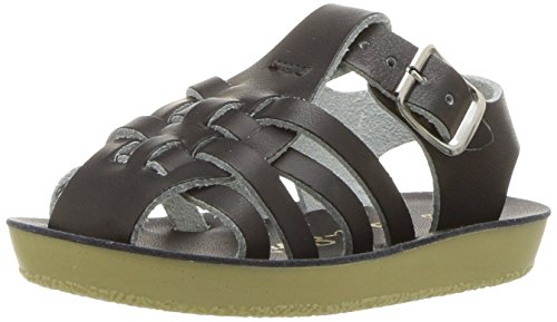 Salt Water Sandals by Hoy Shoe Unisex Sun-San Sailor Flat Sandal, Black, 13 M US Little Kid