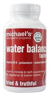 Michael's Naturopathic Programs Water Balance Factors Nutritional Supplements, 90 Count
