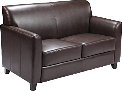 Amazoncom Flash Furniture Hercules Diplomat Series Brown Leather