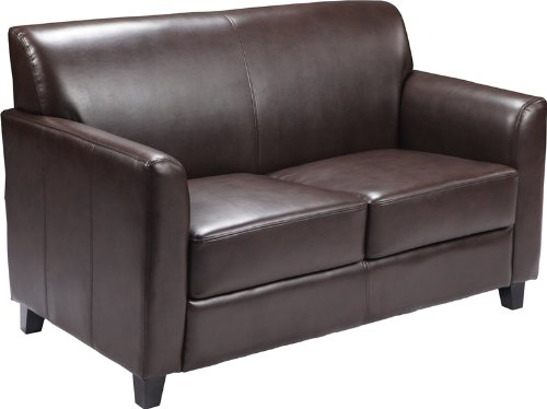 Flash Furniture HERCULES Diplomat Series Brown Leather Loveseat - Collection Brown Leather Loveseat