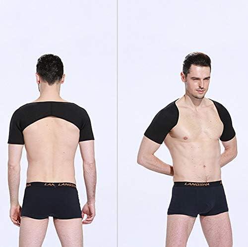 暖かいショルダーストラップ肩のサポートスポーツの肩調節可能なスポーツ保護具大人の看護の肩のフィットネスの男性と女性の肩ひも (Color : Double adjustment, Size : L)
