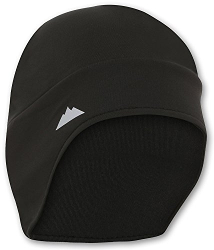 Tough Headwear Helmet Liner Skull Cap Beanie with Ear Covers. Ultimate Thermal Retention and Performance Moisture Wicking. Fits Under (Thermal Helmet Liner)