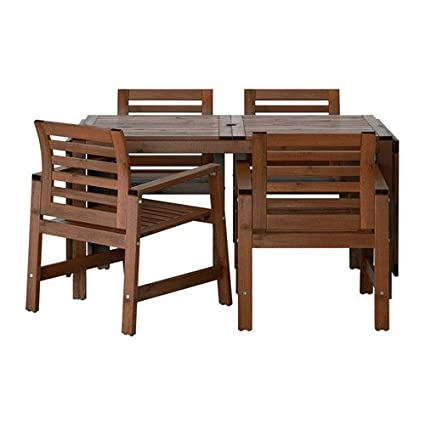 Excellent Amazon Com Ikea Table And 4 Armchairs Outdoor Brown Gmtry Best Dining Table And Chair Ideas Images Gmtryco