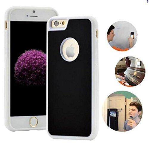 Coque Anti-gravité pour IPhone 7 PLUS, anti-gravité nano-collant magique du portable, couleur Noir Contour Blanc