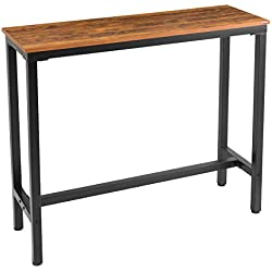 "Mr IRONSTONE Bar Table 47 "" Pub Dining Height Table Bistro Table with Vintage Textured Top (Indoor USE ONLY)"