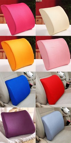 Excellent Pink Memory Foam Lumbar Back Support Cushion Pillow Home Office Car Seat Chair by EXCELLENT SHOPPING (Image #3)