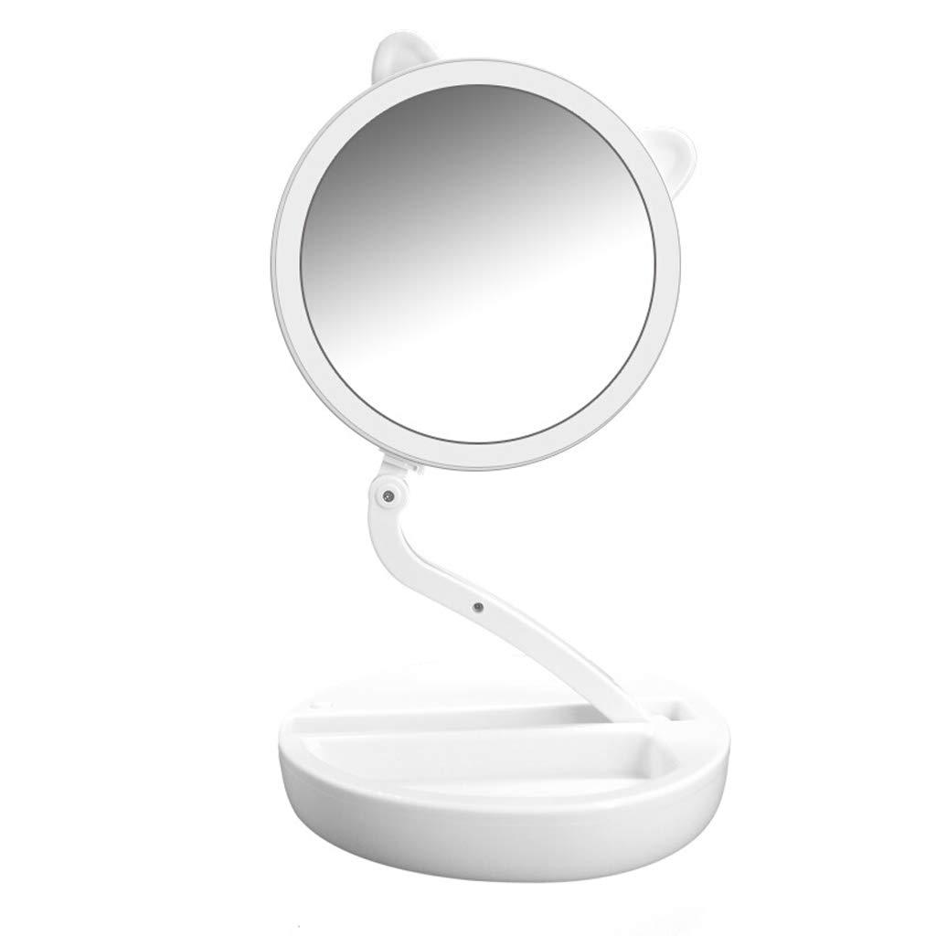 Beautifive LED Vanity Mirror Magnified Travel Mirror Folding