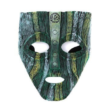 Halloween Face Mask - Halloween Costume Mask - High Grade Film Theme Disguised Geek Resin Mask Party Decorations Supplies (Green Halloween Party Mask)