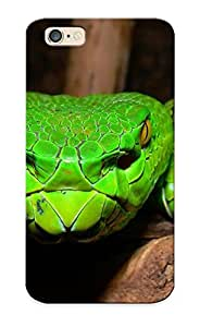Hard Plastic Iphone 6 Case Back Cover, Hot Green Pit Viper Case For Christmas's Perfect Gift