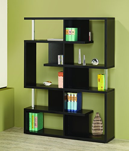5-Tier Bookcase Black and Chrome