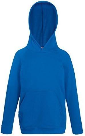 FRUIT OF THE LOOM New Kids Hooded Sweat Set-in Sleeves Hoodie Sweatshirt Top