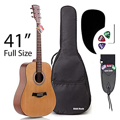 Hola! Music Deluxe Dreadnought Acoustic Guitars - 3/4 Size, 36 Inch