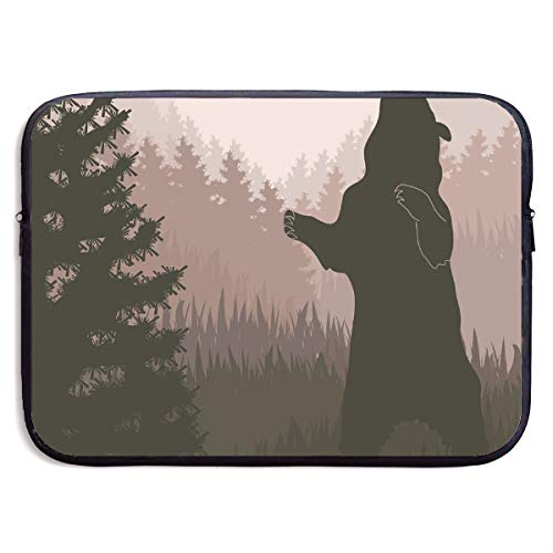 - LiaanQianga Silhouette of Wild Bear 13-15 Inch Laptop Sleeve Bag - Tablet Clutch Carrying Case,Water Resistant, Black