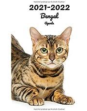 2021-2022 Bengal Agenda: Hebdomadaire et Mensuel | A5, 152 Pages | 26 Mois | Planificateur & Organiseur | Calendrier | Journal | En Francais | Chat