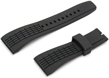 Dynamic 20-26mm Bracelet en Silicone Black Watch pour Seiko Velatura Watch Remplaçable