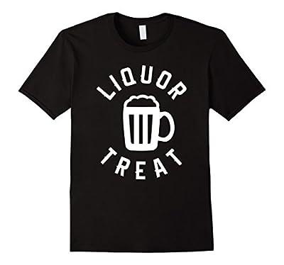 Liquor Treat Halloween Funny Drinking Beer T-Shirt