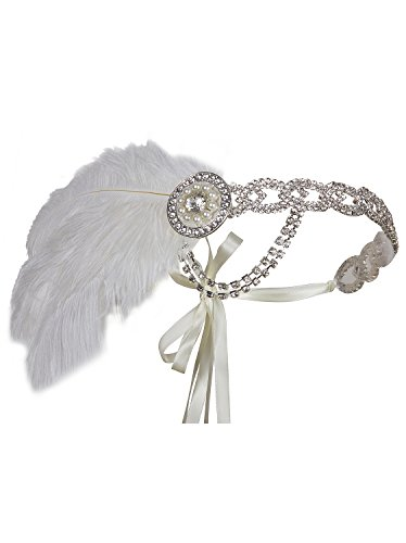 Vijiv Silver 20s Headpiece Vintage 1920s Headband Flapper Great Gatsby -