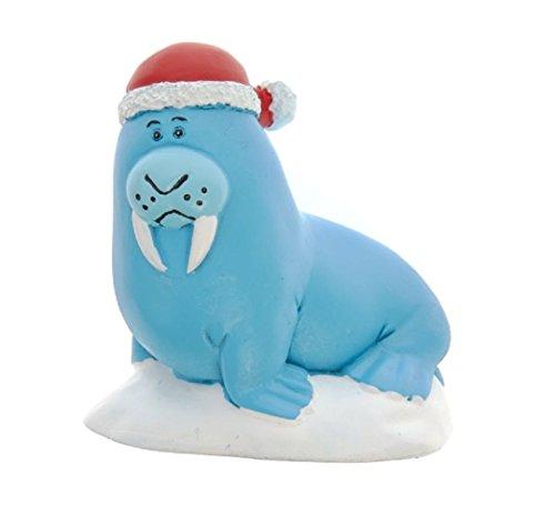 Top Fin Christmas Holiday Walrus Santa Claus Aquarium Ornament (Decorations Top Fin Aquarium)