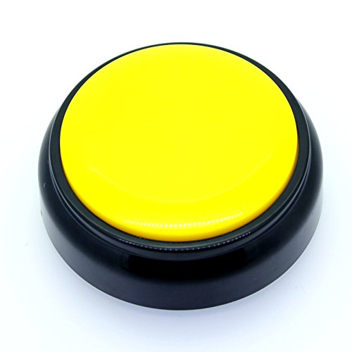 - RIBOSY Recordable Talking Button - Record Button - Answer Buzzers (Yellow-Black)