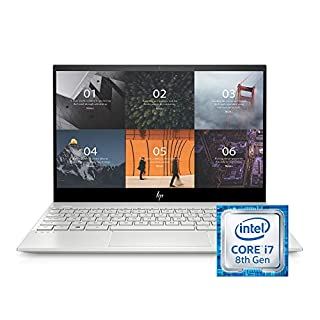 HP ENVY 13-13.99 inches Thin Laptop w/ Fingerprint Reader, 4K Touchscreen, Intel Core i7-8565U, NVIDIA GeForce MX250 Graphics, 16GB SDRAM, 512GB SSD, Windows 10 Home (13-aq0044nr, Natural Silver)
