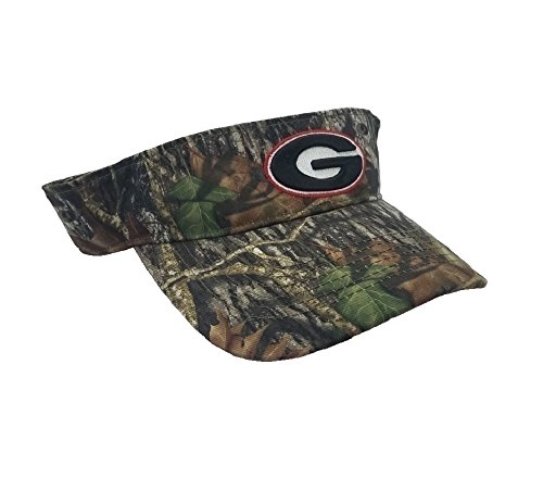 Collegiate Headwear National Cap Camo Visor University of Georgia Bulldogs