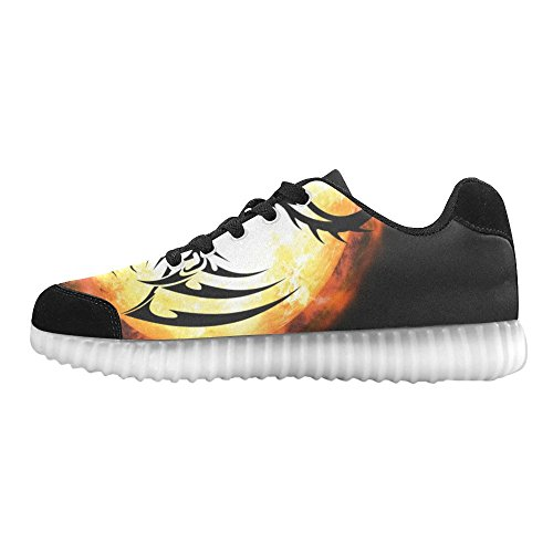 Interestprint Skull Light Up Shoes Sneakers Lampeggianti Scarpe Basse Casual Da Uomo Drago