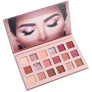 Beikoard_ Sombra de ojos de 18 colores -Paleta de sombra de ojos mate nacarada - Make-up Designer - maquillaje a prueba de agua - Juego de maquillaje ...