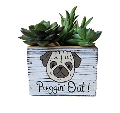Pug Lover Planter and Decorative Bin