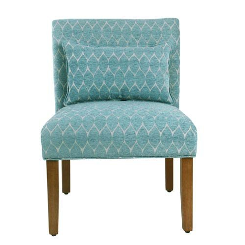 Price comparison product image Meadow Lane Parker Accent Chair with Pillow - Textured Teal