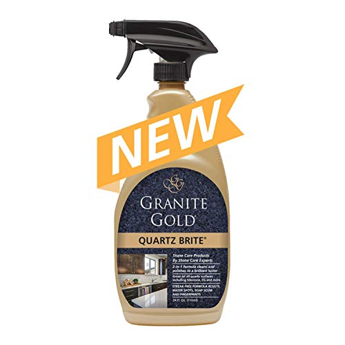 Granite Gold GG0069 Quartz Brite Spray Deeps Cleans and Polishes Quartz Surfaces, 24 Ounce