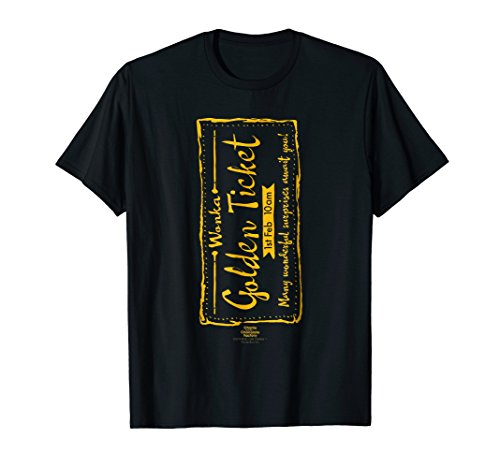Charlie and the Chocolate Factory Golden Ticket T-Shirt (Charlie And The Chocolate Factory Inventing Room)