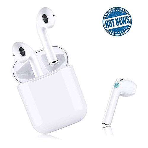 True Wireless Stereo Earbuds Bluetooth Headset in-Ear Earbuds Sports Headset,2019 Latest Intelligent Noise Reduction Pop-ups Auto Pairing with Charging Case Compatible for iPhone/Samsung/Apple/Airpods