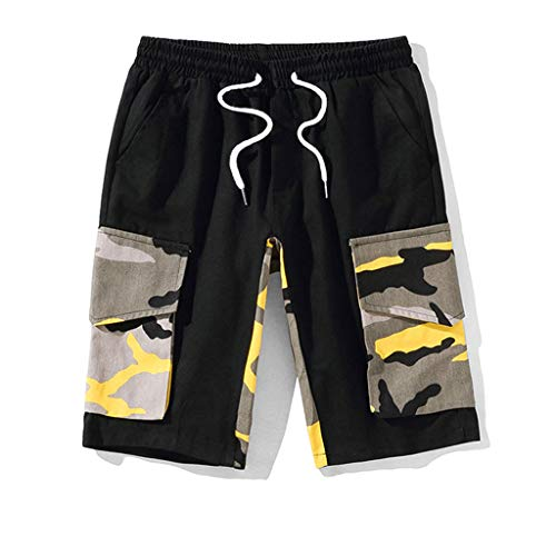 Men's Summer Leisure Camouflage Overalls Fashion Multi-Pocket Trousers, Mmnote ()