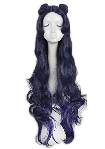 (Yuehong Cosplay Wig Long Wavy Famale Fashion Style Party Wig Heat Resistent)