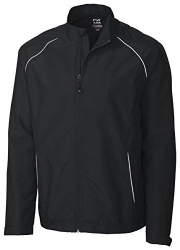 Weathertec Jacket (Cutter & Buck Men's Big-Tall Cb Weathertec Beacon Full Zip Jacket, Black, X-Large/Tall)