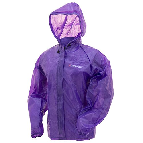 Frogg Toggs Emergency Rain Jacket, Womens, Purple, Size Small/Medium