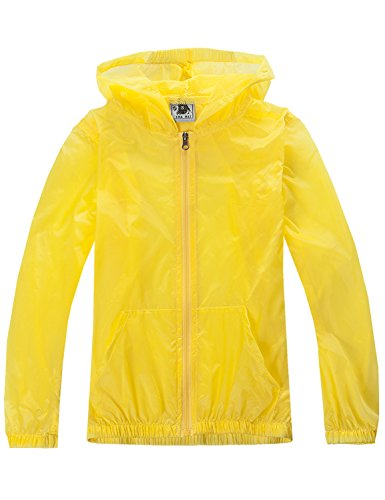 Price comparison product image Only Faith Children's Skin Dust Coat Summer Transparent UV Protection Waterproof Quick Dry Jacket (S(chest: 30.71