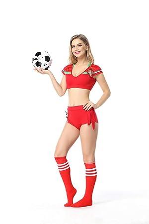 WEII Ropa Sexy Fútbol Sexy Cheerleading Split Cintura Fútbol ...