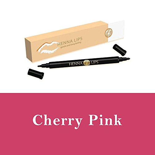 Natural Lip Stain, Henna Lips Lip Liner - Cherry Pink