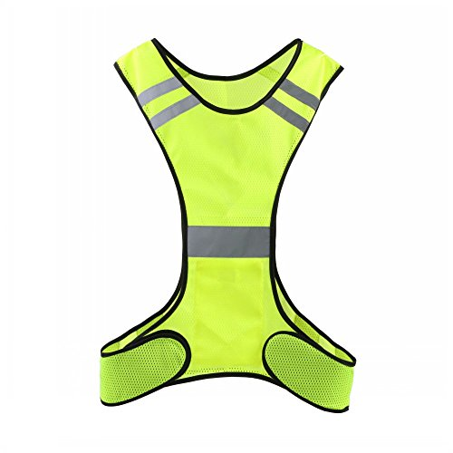 Reflective Running Vest Adjustable High Visibility Reflector Safety Vest Gear Useful for Jogging Biking Law Enforcement Cycling Motorcycle Dog Walking