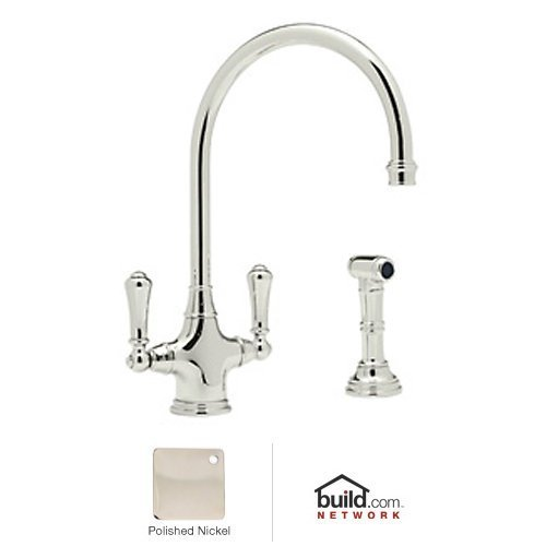 Rohl U.4710PN-2 Faucet with Side Spray and Metal Lever Handle, Polished Nickel by Rohl