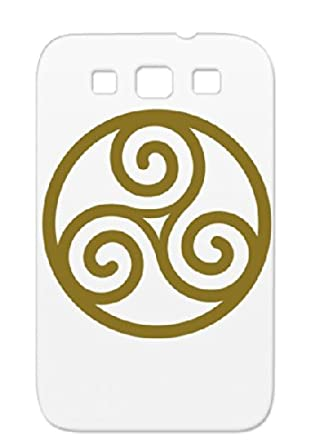 Circled Triskelion 3 Tpu Brown For Sumsang Galaxy S3 France Scottish