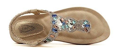 Oro Elegante Aisun Scintillante Donna Cut Basso Bling Sandali zqFqU50x