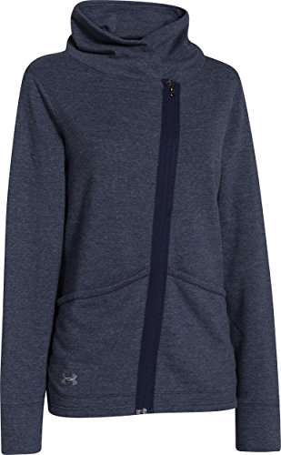 (Under Armour Women's Wrap Up Full Zip (Large, Midnight)