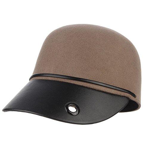 44c9cf95adc Amazon.com   ALWLj Vintage Winter Hats for Men and Women Patchwork Bowler Hat  Baseball Caps Equestrian Cap Snapback Horseman Hat Black   Sports   Outdoors