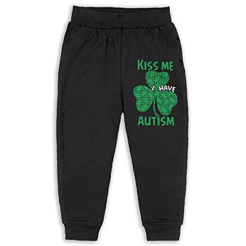 Kids & Toddler Pants Soft Cozy Baby Sweatpants Kiss Me I Have Autism Fleece Pants Jogger Pants -